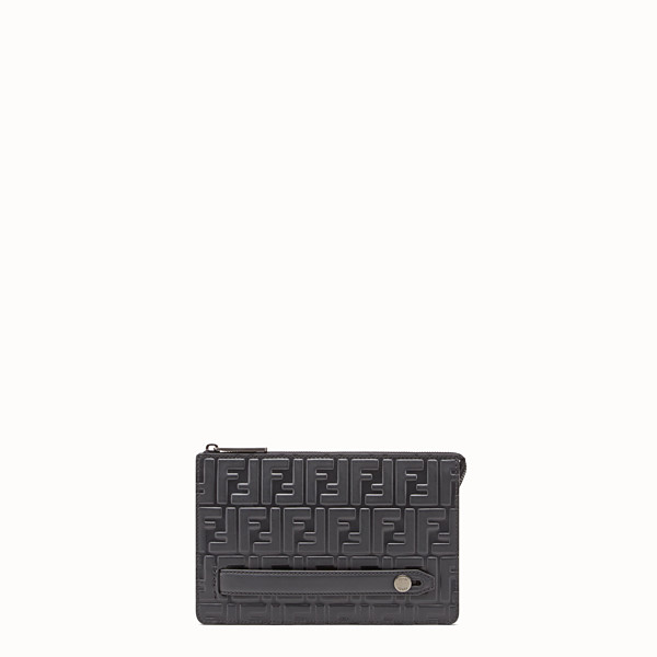 FENDI CLUTCH - Black leather pouch - view 1 small thumbnail