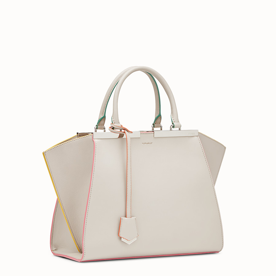 FENDI 3JOURS - Grey leather shopper bag - view 2 detail