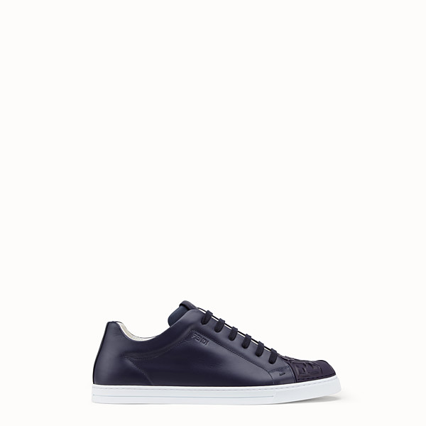 FENDI SNEAKERS - Blue leather low-tops - view 1 small thumbnail