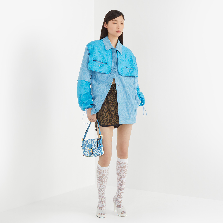 FENDI JACKET - Light blue denim jacket - view 5 detail