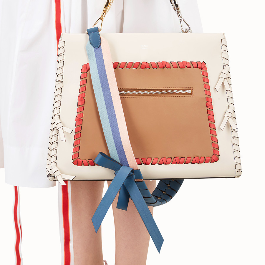 FENDI STRAP YOU - Leather and fabric shoulder strap - view 2 detail