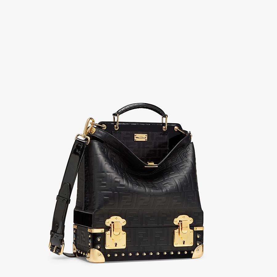 FENDI PEEKABOO ICONIC MINI TRUNK - Black leather bag - view 2 detail