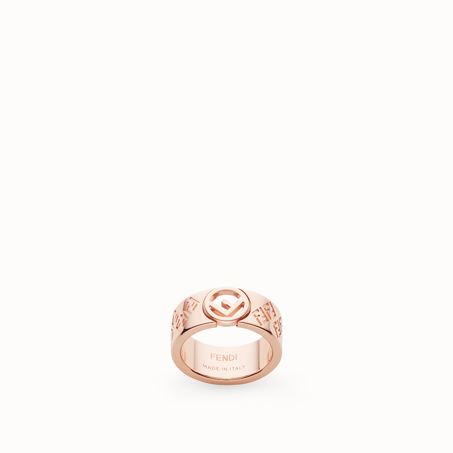 FENDI FF RING - Rose gold-colour ring - view 1 detail
