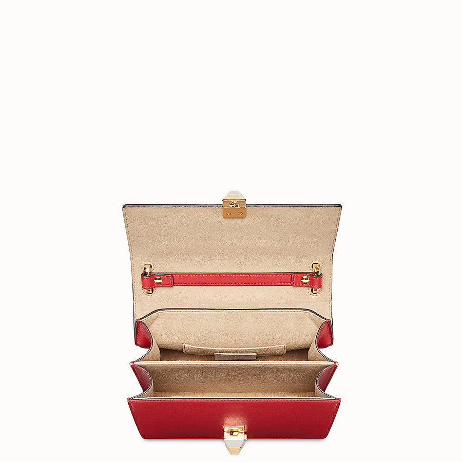 FENDI KAN I SMALL - Mini sac en cuir rouge - view 4 detail