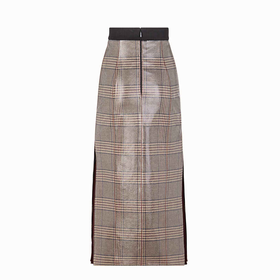 FENDI SKIRT - Prince of Wales check wool skirt - view 2 detail