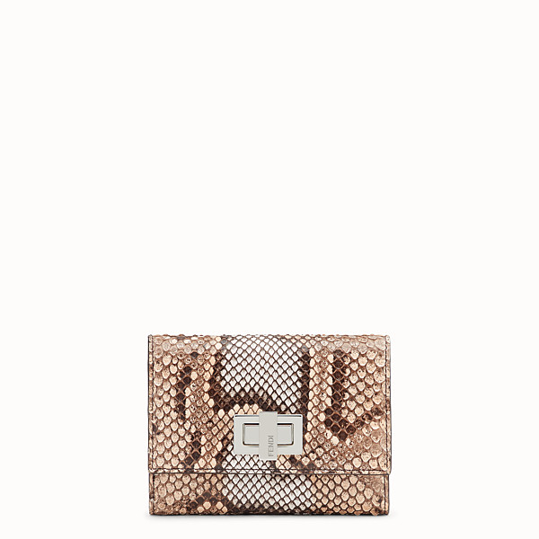 FENDI CONTINENTAL MEDIUM - Beige python skin wallet - view 1 small thumbnail