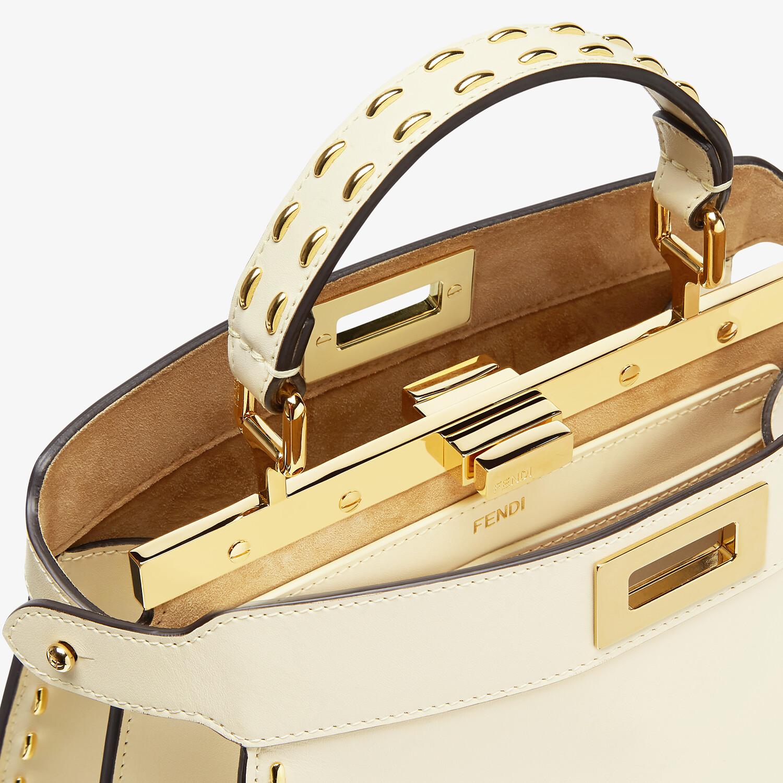FENDI PEEKABOO ISEEU SMALL - White leather bag - view 6 detail