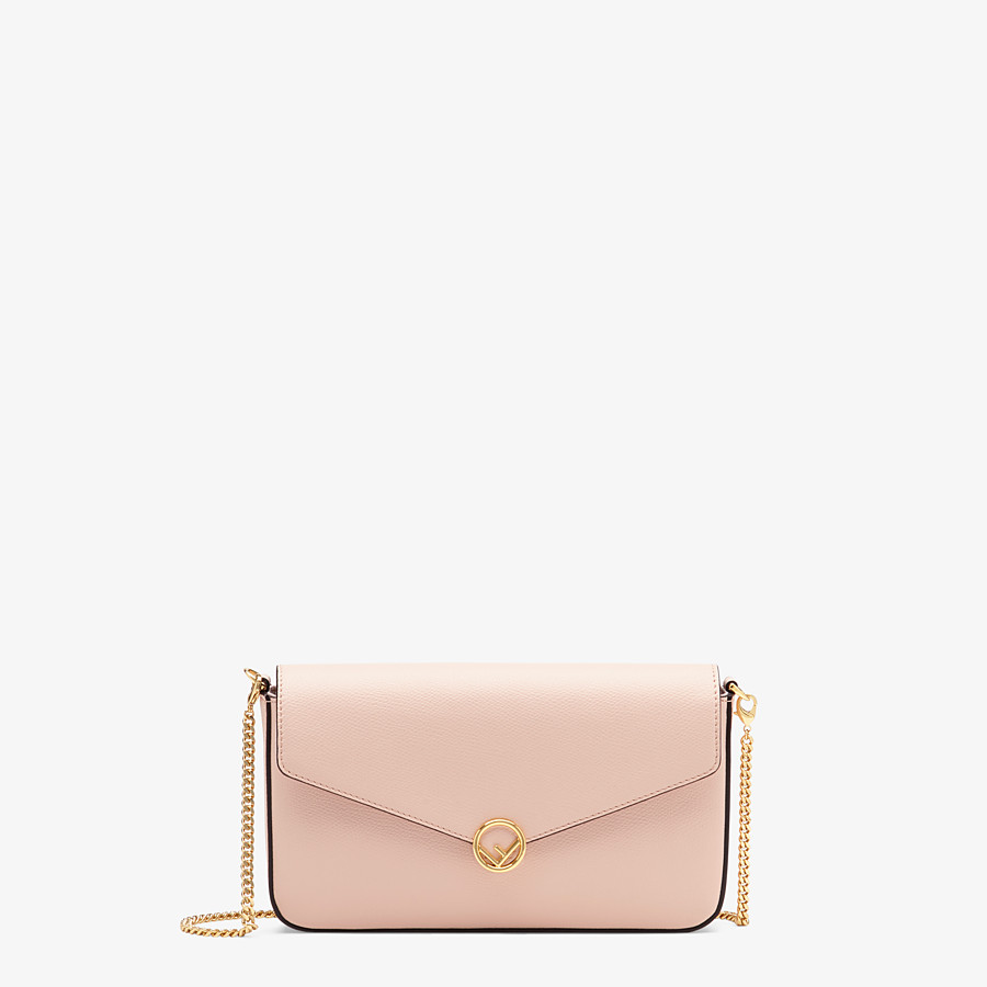FENDI WALLET ON CHAIN WITH POUCHES - Pink leather minibag - view 1 detail