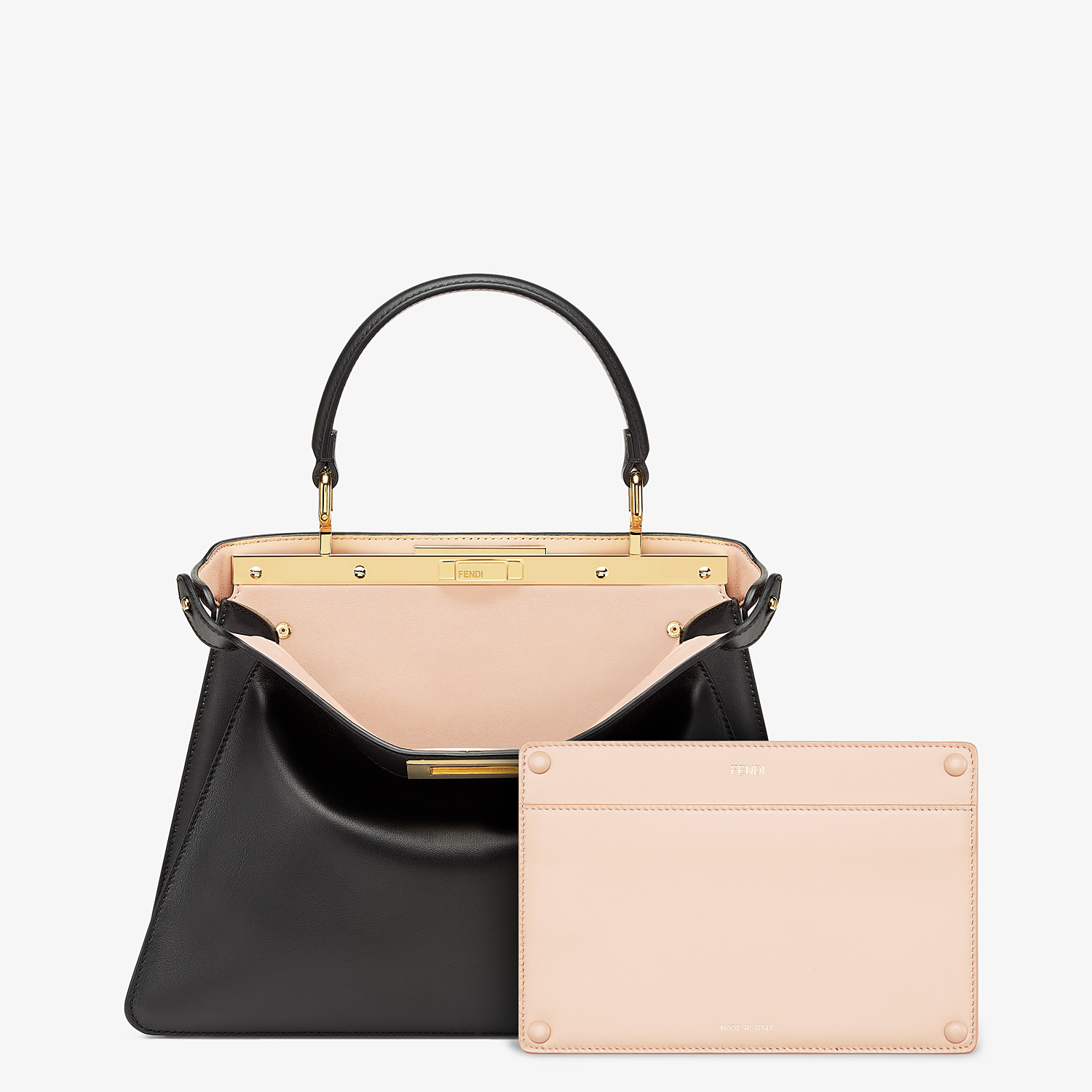 FENDI PEEKABOO ISEEU MEDIUM - Black leather bag - view 3 detail