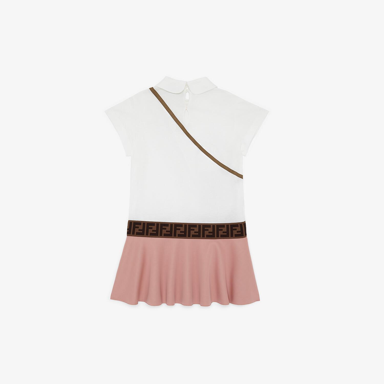 FENDI DRESS - Jersey and neoprene junior girl dress - view 2 detail