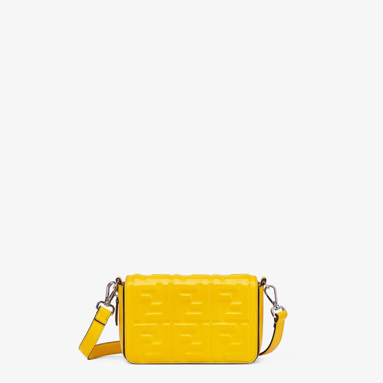 FENDI FLAP BAG - Yellow nappa leather bag - view 1 detail