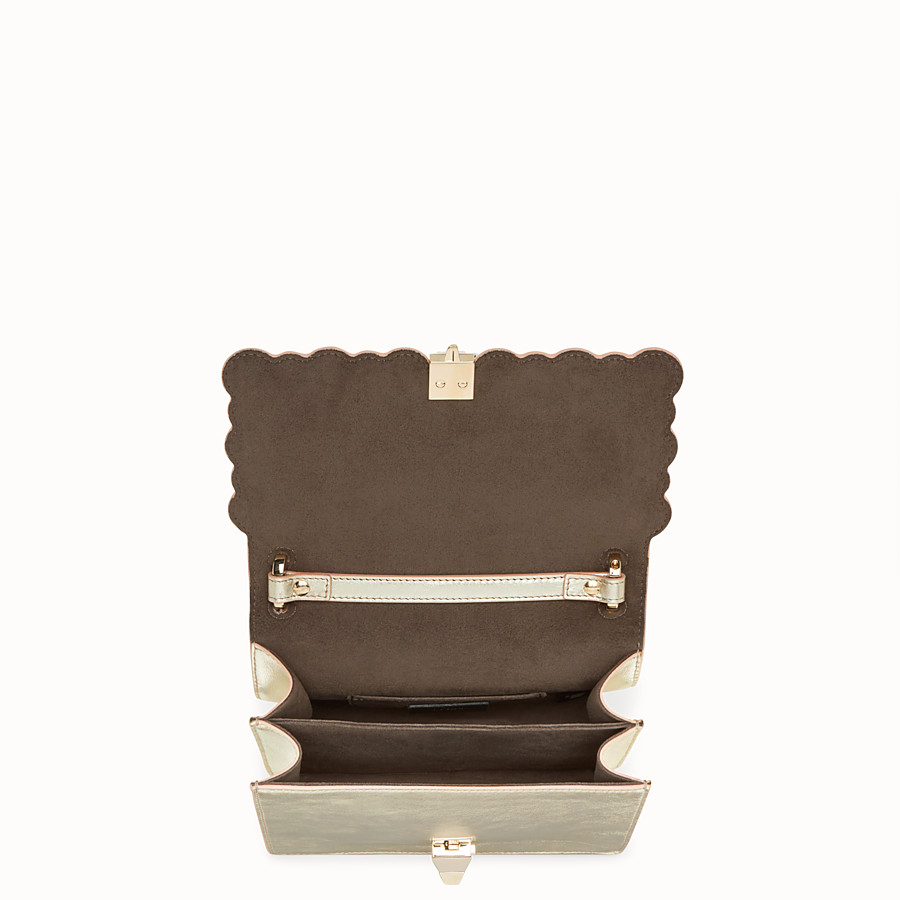 FENDI KAN I SMALL - Gold leather mini-bag - view 4 detail