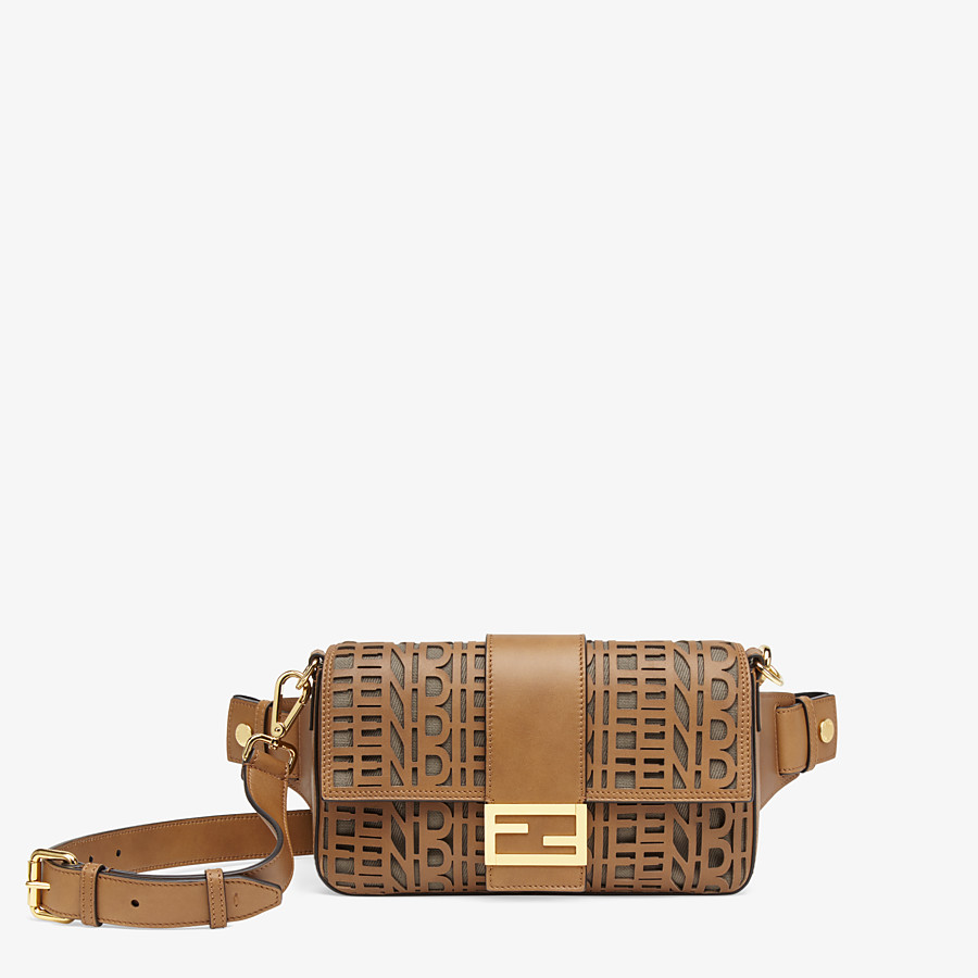 FENDI BAGUETTE - Beige leather bag - view 1 detail
