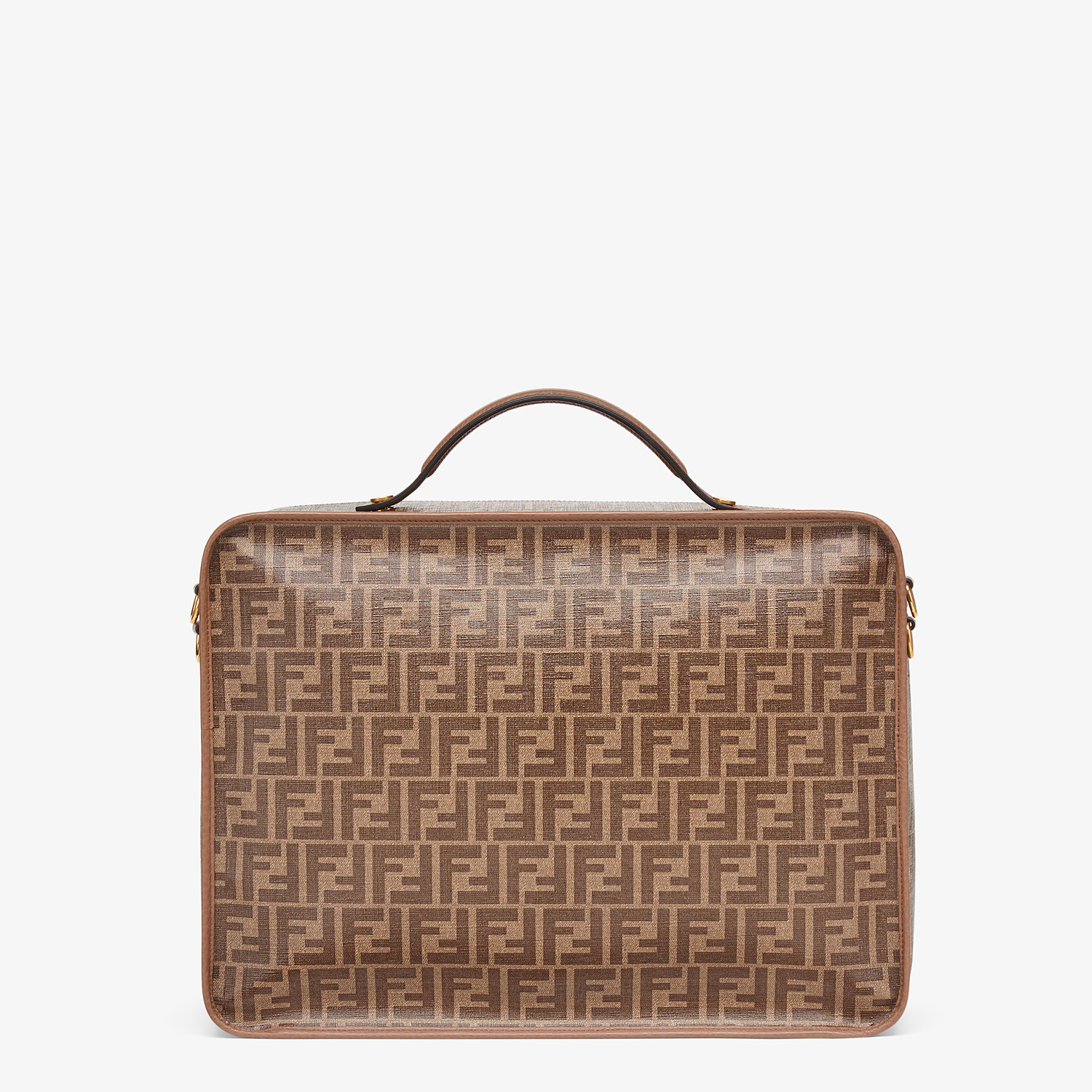 FENDI TRAVEL BAG MEDIUM - Large brown fabric bag - view 3 detail