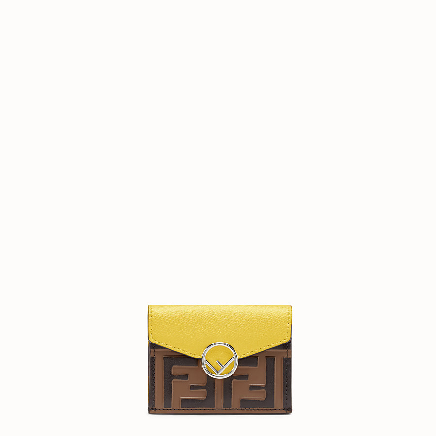 FENDI MICRO TRIFOLD - Yellow leather wallet - view 1 detail