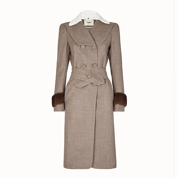 FENDI OVERCOAT - Grisaille fabric outerwear - view 1 small thumbnail