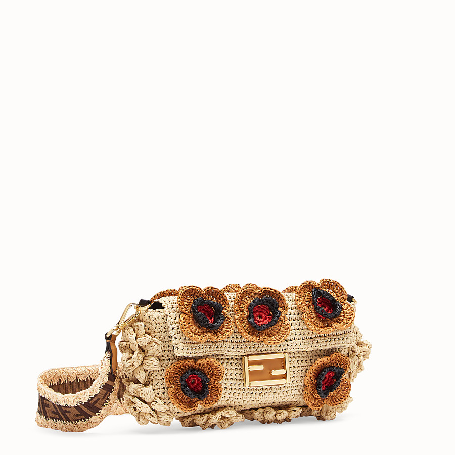 FENDI BAGUETTE - Multicolour raffia bag - view 2 detail