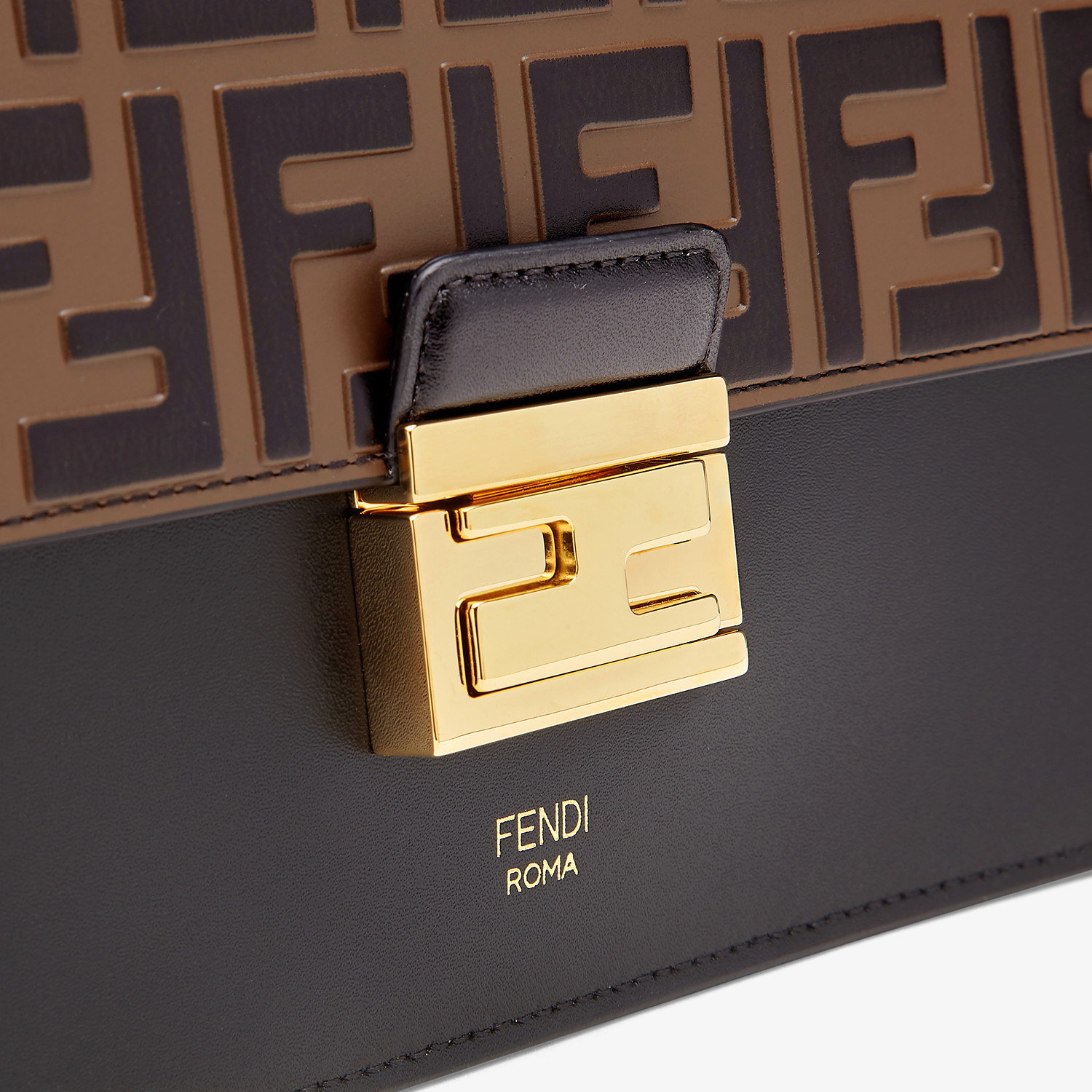 FENDI KAN I - Black leather bag - view 5 detail