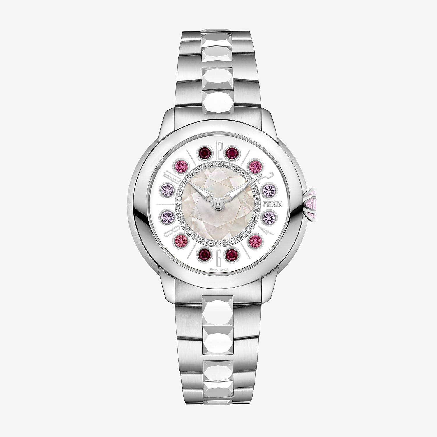 FENDI FENDI ISHINE - 38 MM - Watch with diamonds and rotating gemstones - view 1 detail