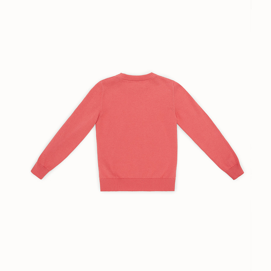 FENDI CREW-NECK - Cotton and cashmere jumper with intarsia - view 2 detail