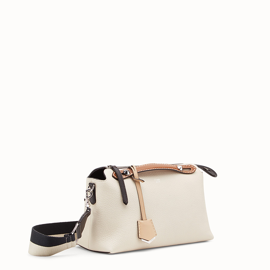 FENDI BY THE WAY REGULAR - White leather Boston bag - view 2 detail