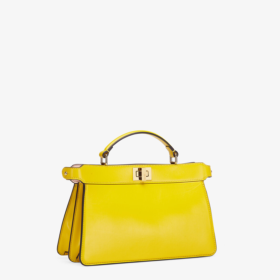 FENDI PEEKABOO ISEEU EAST-WEST - Yellow leather bag - view 2 detail