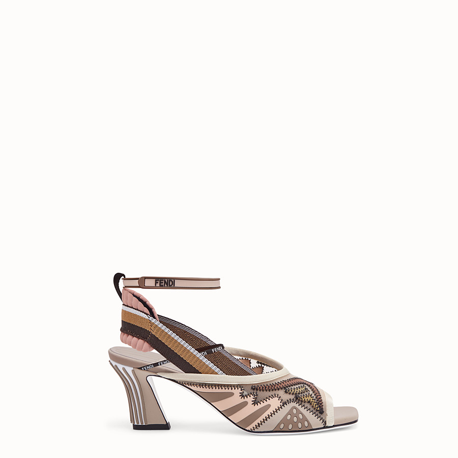 FENDI SANDALS - Sandals in pink technical mesh - view 1 detail