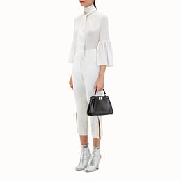 b94368f3abeb black nappa handbag with weave - PEEKABOO MINI