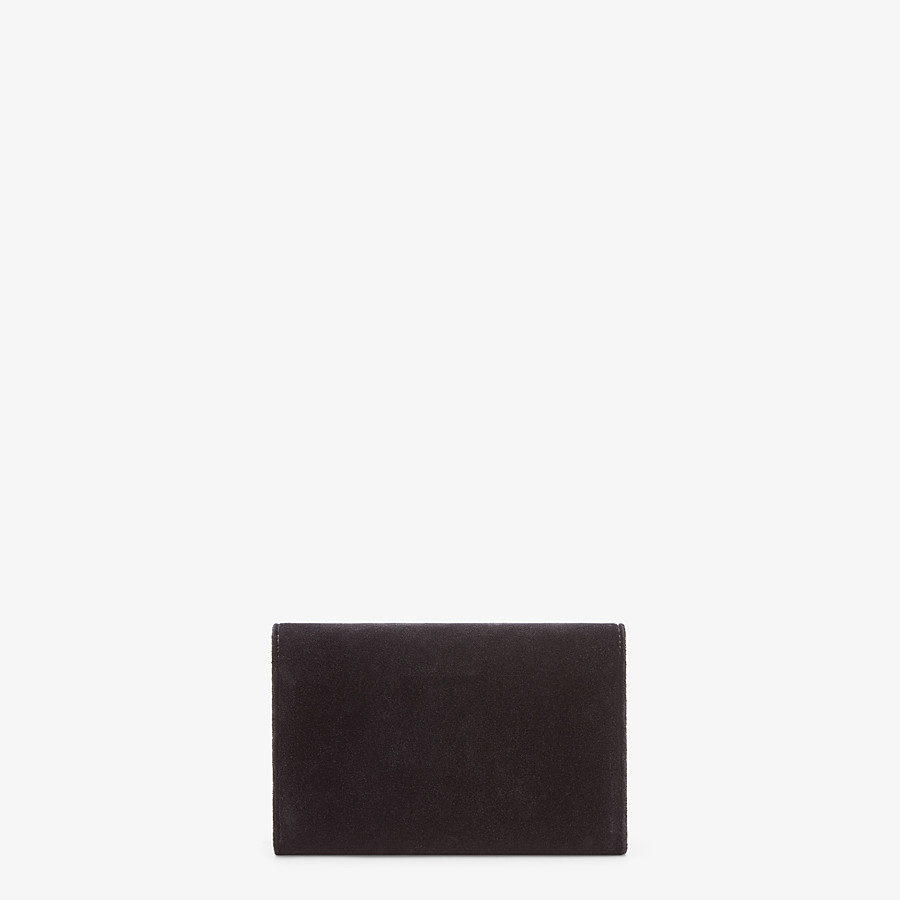 FENDI WALLET ON CHAIN - Black velvet mini-bag - view 3 detail