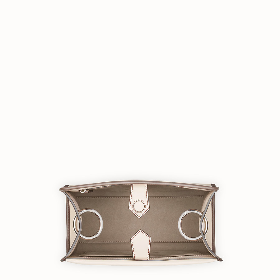 FENDI RUNAWAY SMALL - Pink leather bag with exotic details - view 4 detail