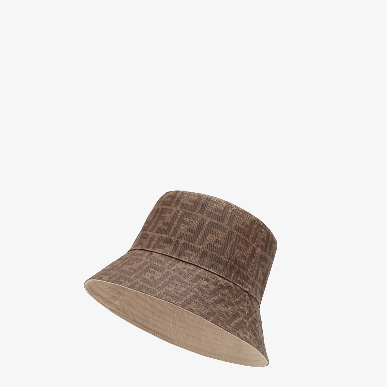 FENDI HAT - Brown tech fabric hat - view 1 detail