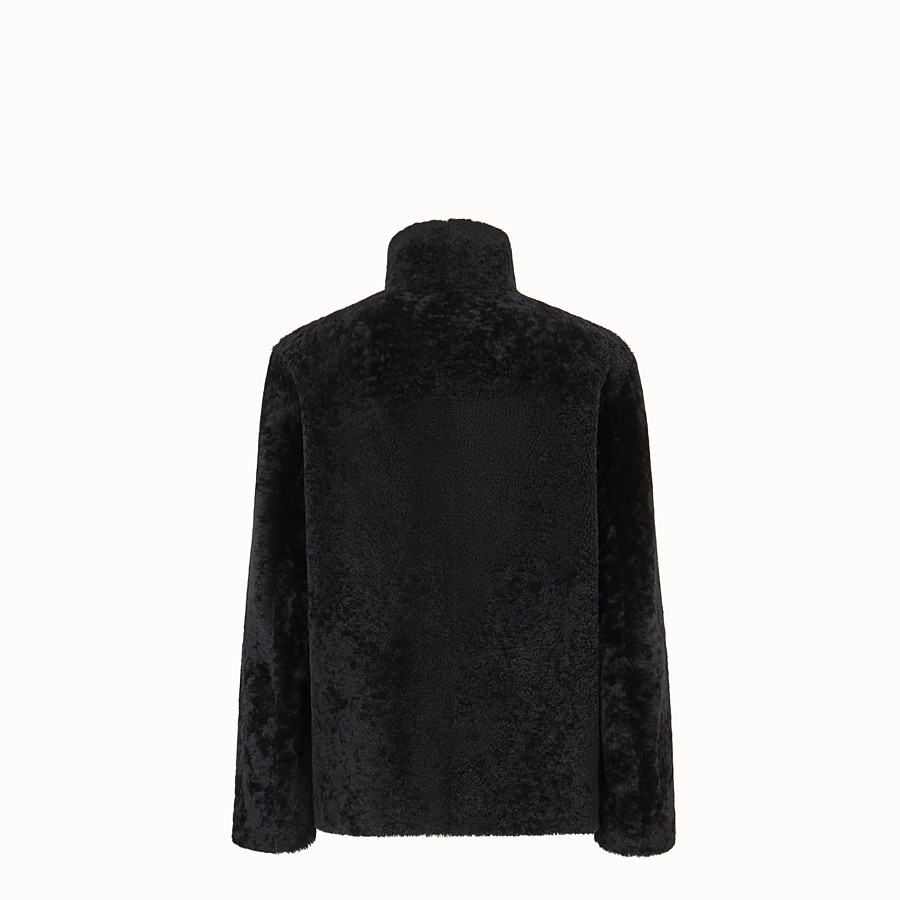 FENDI DENIM - Black sheepskin jacket - view 2 detail