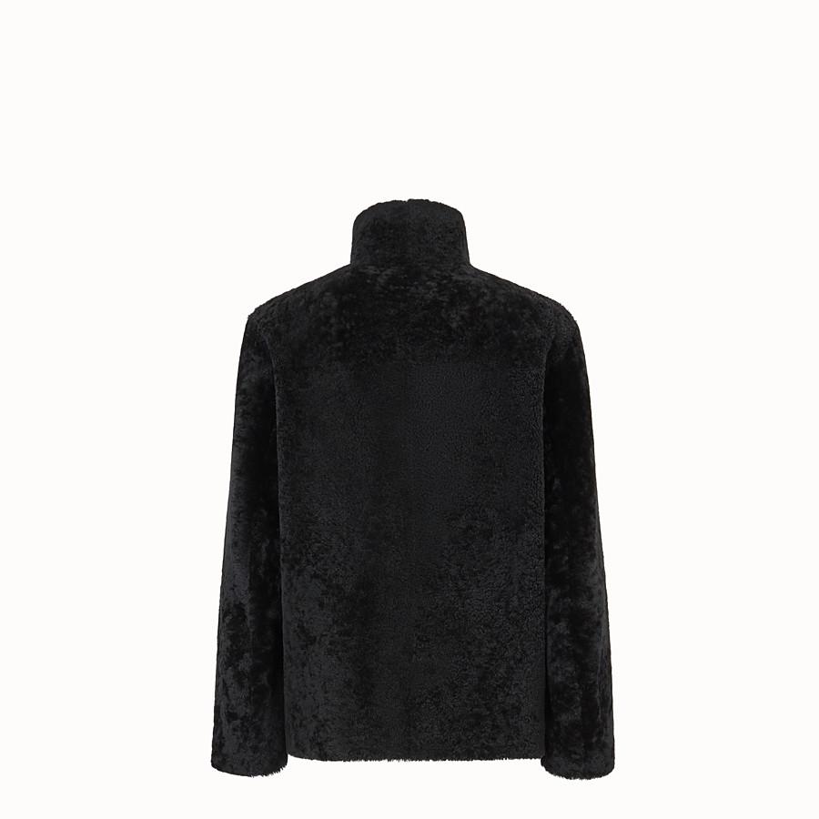FENDI DENIM - Black sheepskin jacket - view 2 detail