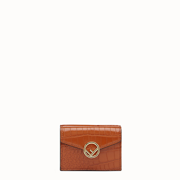 FENDI MICRO TRIFOLD - Brown alligator wallet - view 1 small thumbnail
