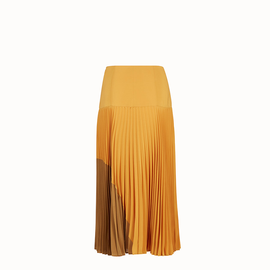 FENDI SKIRT - Orange silk skirt - view 2 detail