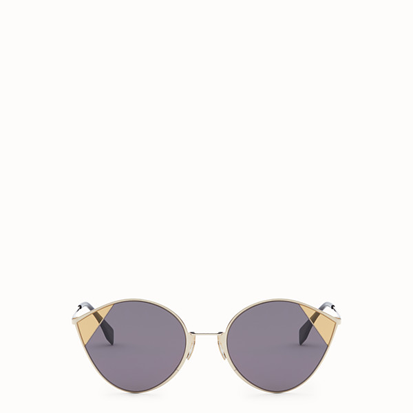 FENDI CUT-EYE - A/W18 Fashion Show gold-color sunglasses - view 1 small thumbnail