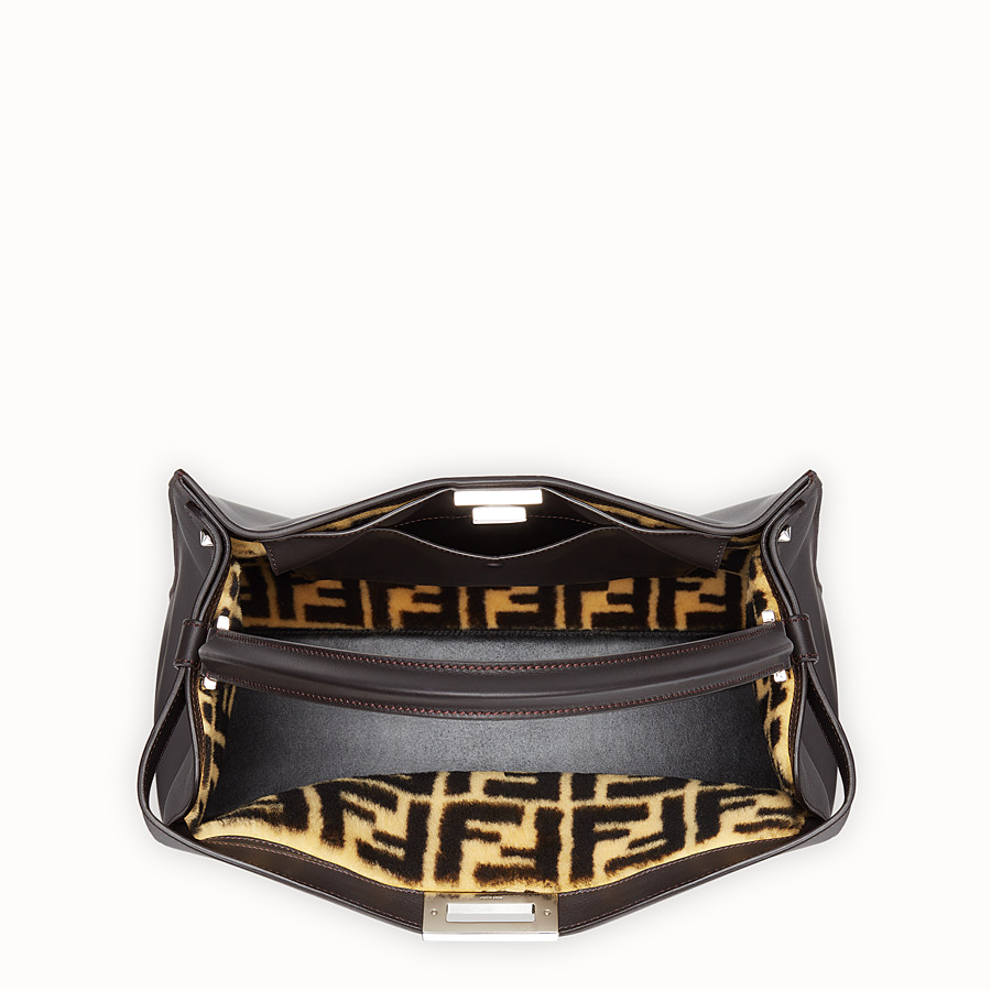 FENDI PEEKABOO X-LITE - Black leather bag - view 5 detail