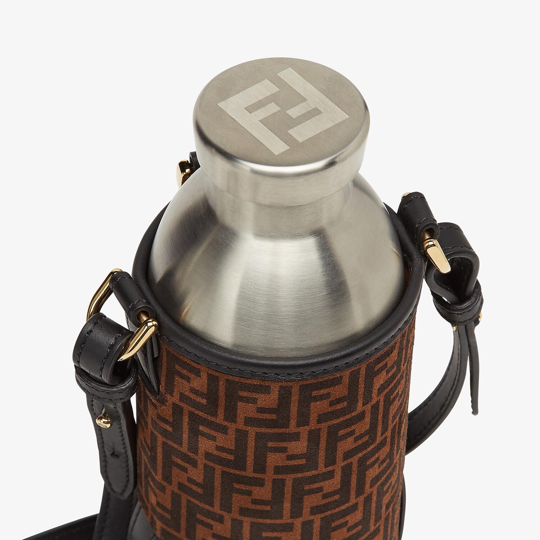 FENDI BOTTLE HOLDER - Brown leather flask holder - view 3 detail
