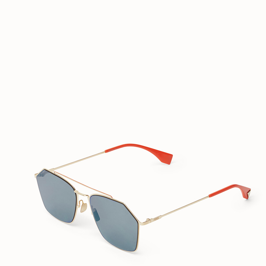 FENDI EYELINE - Gold sunglasses - view 2 detail
