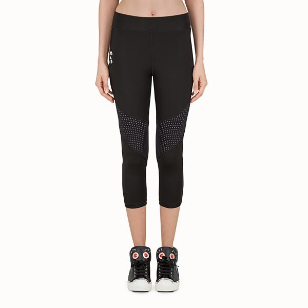 FENDI LEGGINGS - Black fabric capri leggings - view 1 small thumbnail
