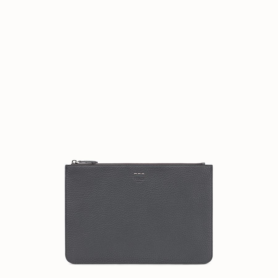 FENDI POUCH - Multicolor leather slim pouch - view 1 detail