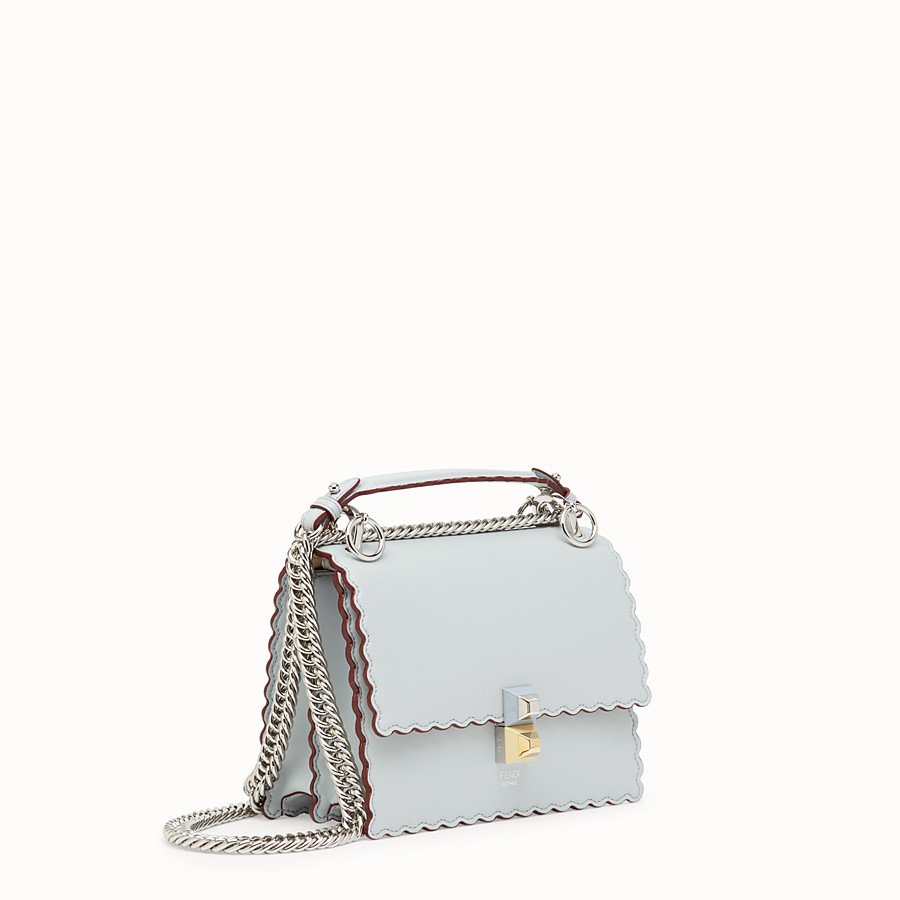 FENDI KAN I SMALL - Gray leather mini-bag - view 2 detail