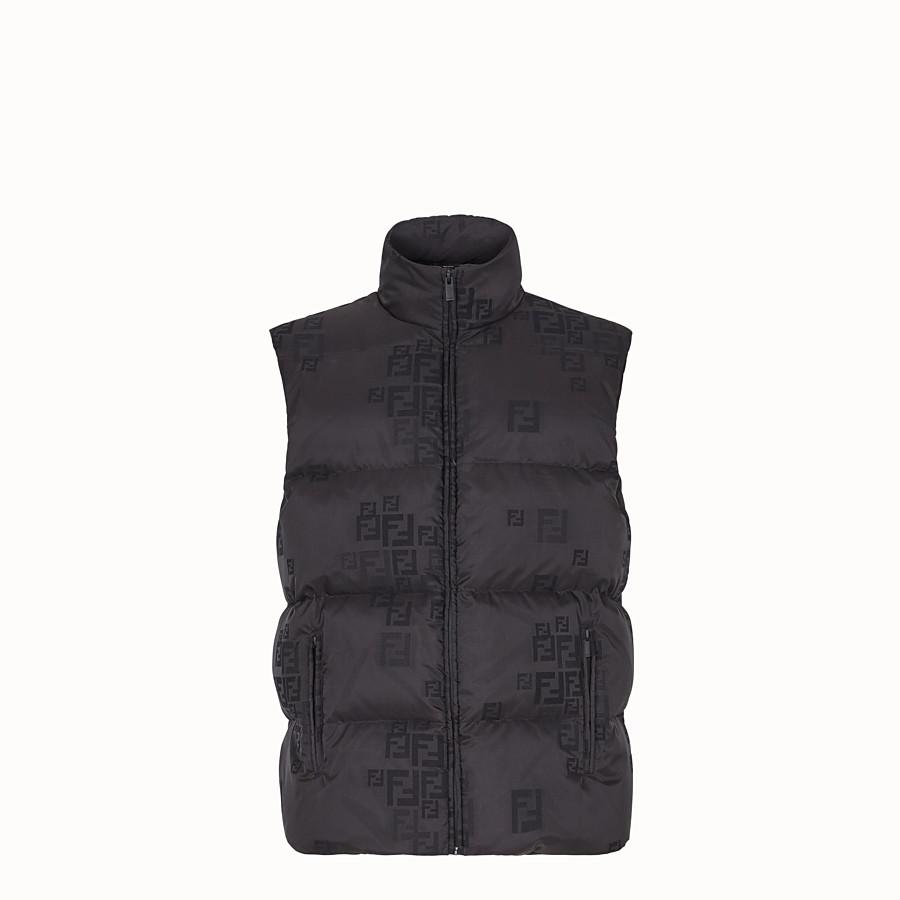 FENDI GILET - Black cotton and nylon gilet - view 1 detail
