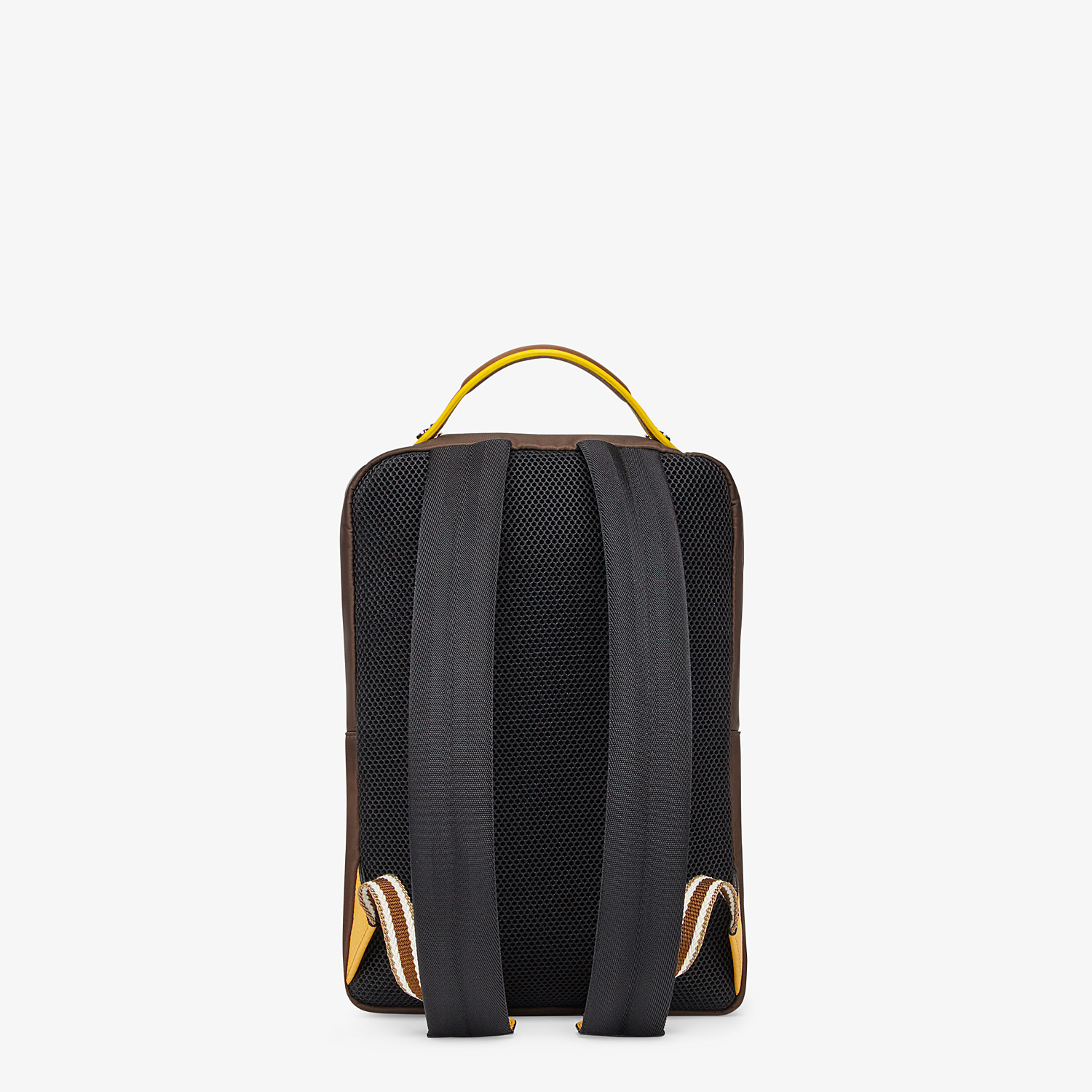 FENDI BACKPACK - Brown nylon backpack - view 3 detail