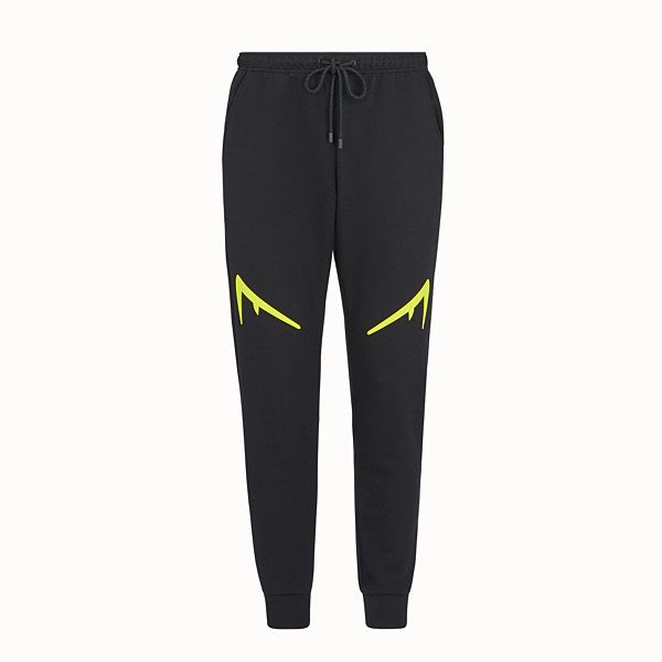 FENDI TROUSERS - Black tech jersey trousers - view 1 small thumbnail