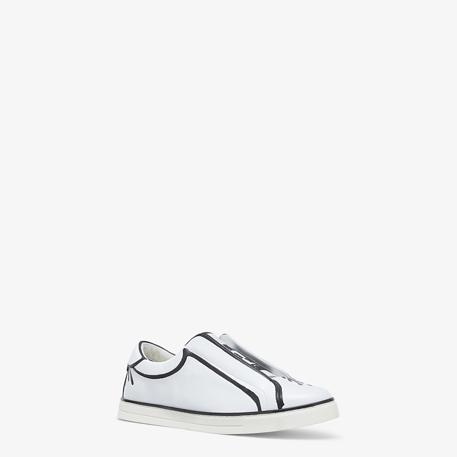 FENDI SNEAKERS - Fendi Roma Joshua Vides nappa leather slip-ons - view 2 detail