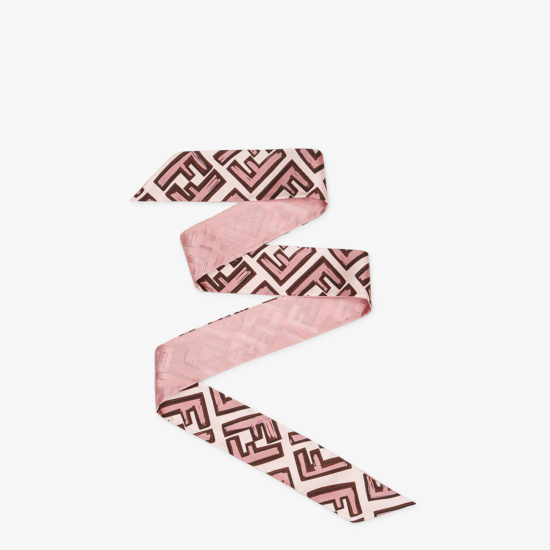 FENDI WRAPPY - Bandeau in seta rosa - vista 1 dettaglio