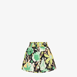 FENDI SHORTS - Multicolor cotton shorts - view 1 thumbnail