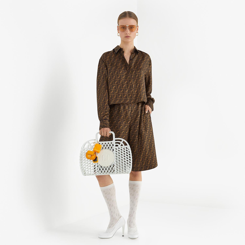 FENDI SHIRT - Brown twill shirt - view 4 detail