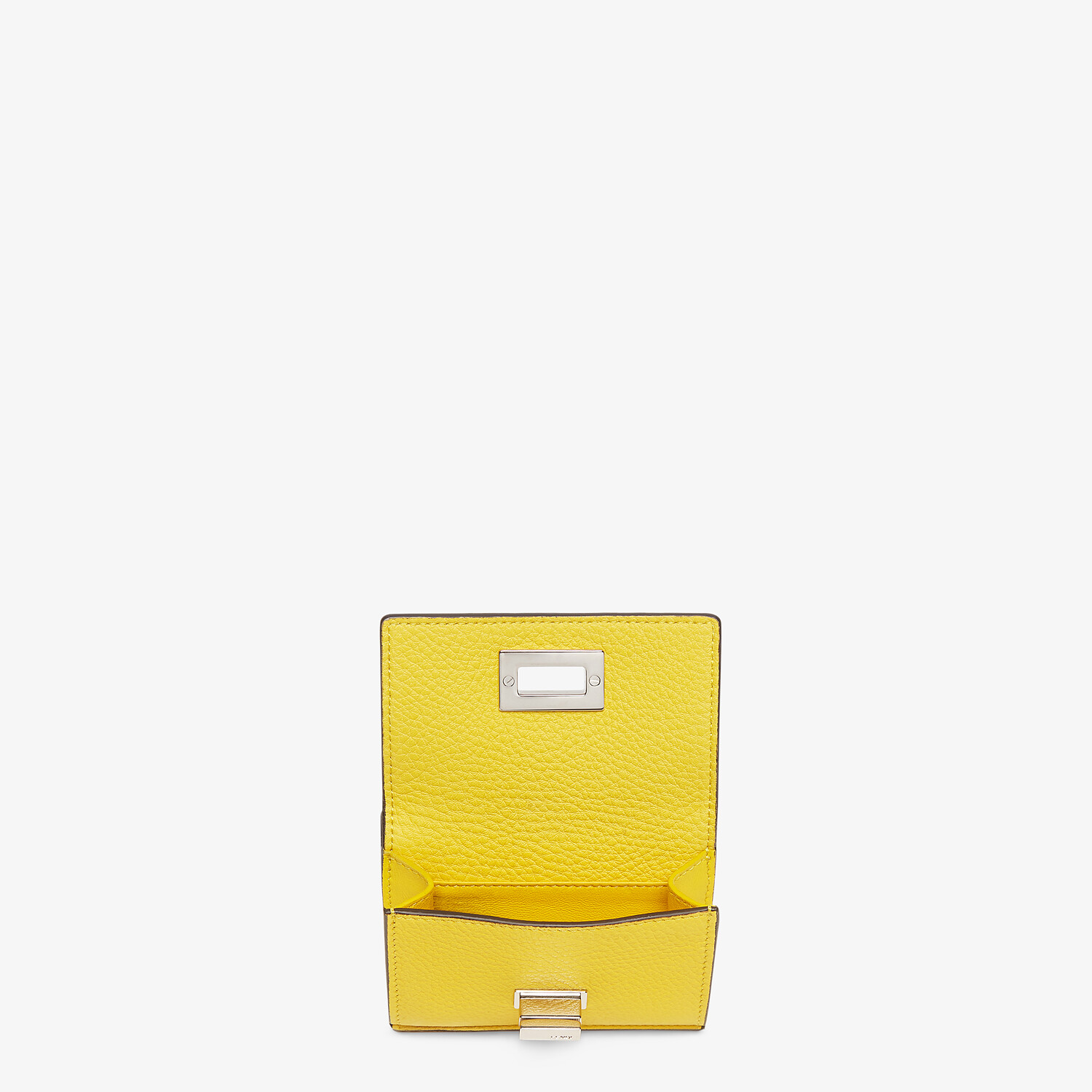 FENDI MICRO TRIFOLD - Yellow leather wallet - view 3 detail
